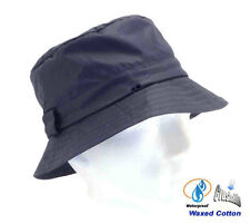 Mens Hat Bucket Style Crushable Waterproof Waxed Country in Blue Size 57 - 60cm