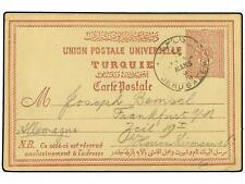 TURKEY. 1893. PALESTINE. Postal stationery card showin