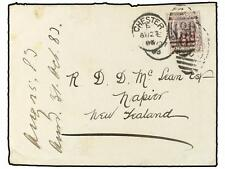 GREAT BRITAIN. 1883. Cover used to NEW ZEALAND bearing 6