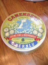 Ceramic French CAMEMBERT Pot For Keeping or Cooking Cheese 5ins Dia vgc