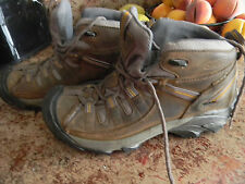 KEEN Dry Targhee Mid Brown Leather Waterproof Hiking Ankle Boots Womens size 8.5