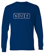 Men's Bacon Periodic Table Of Elements Long Sleeve T-Shirt Science Chemistry Tee
