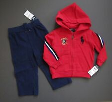 Ralph Lauren Polo Baby Boy Big Pony 2 piece Track outfit Fleece 18 Months NWT