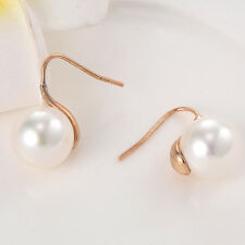 Silver/Gold Plated Hook Stud Earrings Shell Pearl Earings For Wedding