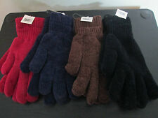 LADIES FEATHERFEEL OR CHUNKY CHENILLE GLOVES. ASSORTED COLOURS. BNWT