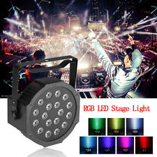AC110-240V 18LED Stage Light Par RGB Lighting Laser Projector For Party Club 18W