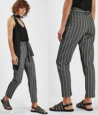 TOPSHOP Monochrome Peg Trousers Size 6 to 14