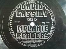 "DAVID CASSIDY Talks to Melanie Readers 7"" flexi disc Sound Clip in Listing"