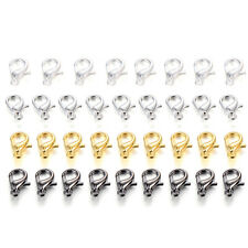50/100pcs Necklace Jewelry Gold Filled silver Findings clasps lobster clasp gold