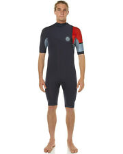 New Rip Curl Men's 2X2mm E Bomb Zl Gb Ss Spring Wetsuit Mens Steamer Wetsuit Red