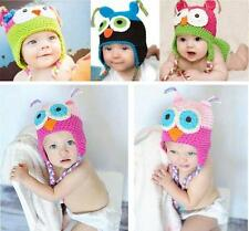 5Colors Baby Boy Girl Toddlers Owl Knit Crochet Hat Beanie Cap Photo Prop