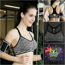 Womens Top Padded Seamless Sports Bra Gym Yoga Padded Fitness Tops Tank Workout