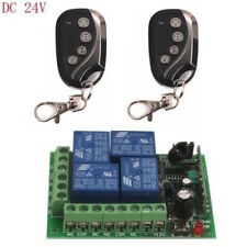 24V 4CH Relay Wireless Remote Control Relay Switch 2 Transmitter+Receiver 433MHz