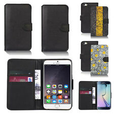 black pu leather wallet case cover for apple iphone models design ref q540