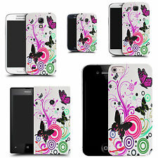 motif case cover for many Mobile phones - pink swirl butterfly