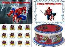 EDIBLE CAKE IMAGE SPIDERMAN ICING SHEET TOPPER CUPCAKES BIRTHDAY PARTY