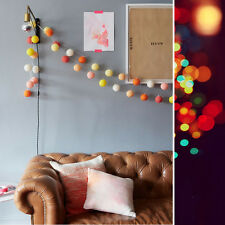 Cotton Ball Fairy LED String Night Light For Wedding Party Christmas Decoration