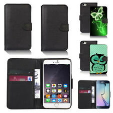 black pu leather wallet case cover for many mobiles design ref q700