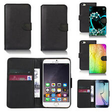 black pu leather wallet case cover for many mobiles design ref q660