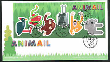 2016 -Animail  Animals M.S.  FDC Zoo Chester  Postmark Post Free