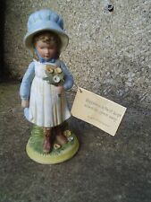 VINTAGE HOLLY HOBBIE PORCELAIN FIGURE WITH TAG - 9