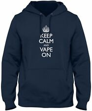 Men's Keep Calm And Vape On Hoodie Funny Vaporizer Sweatshirt FREE S&H!