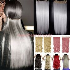 100% Real Natural Clip in Hair Extensions Ombre Long For Human Hair Piece N910
