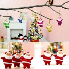 6PCS Christmas Santa Claus Xmas Tree Hanging Ornaments Home Party Decorations