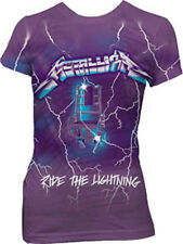 Metallica: Purple Ride The Lightning Girlie Shirt  Free Shipping