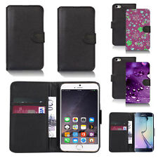 black pu leather wallet case cover for many mobiles design ref q430