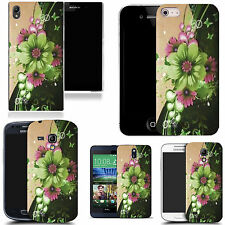 hard case cover for variety of mobiles - green motto