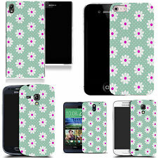 motif case cover for various Popular Mobile phones - blue inviting daisy