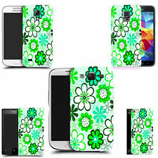 gel rubber case cover for  Mobile phones - green daisy bunch silicone