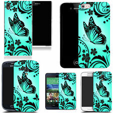 motif case cover for many Mobile phones - aqua caress butterfly