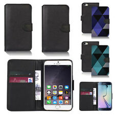 pu leather wallet case cover for apple iphone models design ref q71