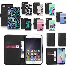 black pu leather wallet case cover for popular mobiles design ref a125