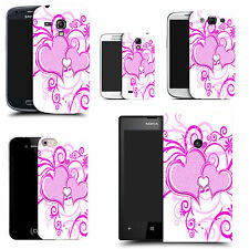 hard case cover for variety of mobiles -purple heart