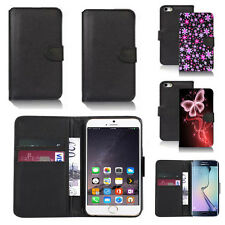 black pu leather wallet case cover for apple iphone models design ref q721