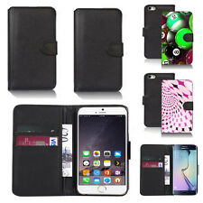black pu leather wallet case cover for apple iphone models design ref q459