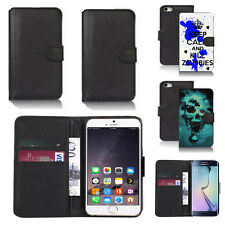 black pu leather wallet case cover for apple iphone models design ref q761