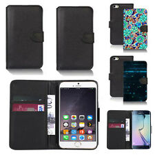 pu leather wallet case cover for apple iphone models design ref q72
