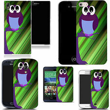 gel case cover for many mobiles  - purple owl tree silicone