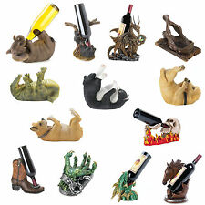 Animal Figure Tabletop Single Wine Bottle Holder Bar Accessory