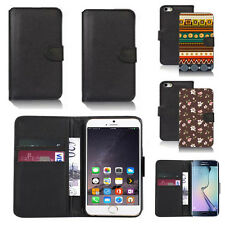 pu leather wallet case cover for apple iphone models design ref q156