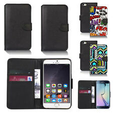 pu leather wallet case cover for apple iphone models design ref q116