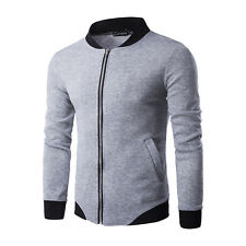 Men's Hoodies Jackets Long Sleeve Zipper Sweatshirt Sweater Tops Coats Outwear
