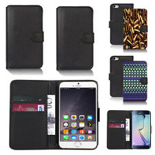 pu leather wallet case cover for apple iphone models design ref q23