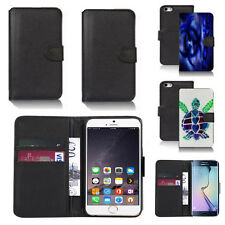 pu leather wallet case cover for apple iphone models design ref q07