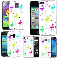 motif case cover for various Mobile phones - multi flamingo droplet