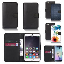pu leather wallet case cover for apple iphone models design ref q28